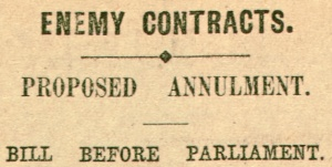 Article heading from The Argus, 15 May 1915