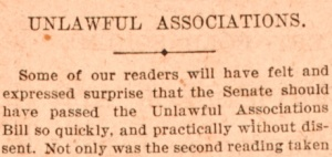 Article heading from The Sydney Morning Herald, 22 December 1916